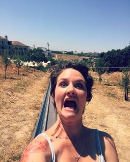 Terrified selfie